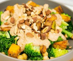 Chickpea, Broccoli, Pumpkin Salad