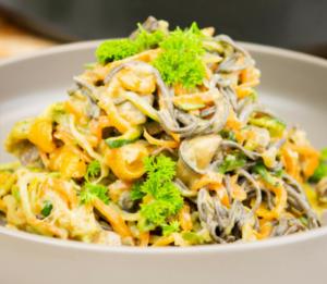 Creamy Garlic & Mushroom Pasta