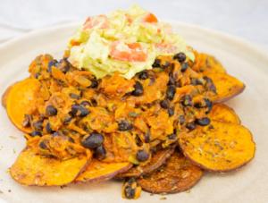 Black Bean Mexican Nachos